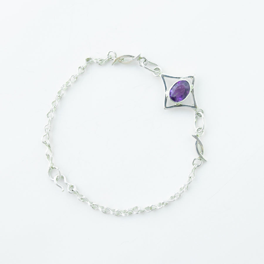 North Star Amethyst Bracelet