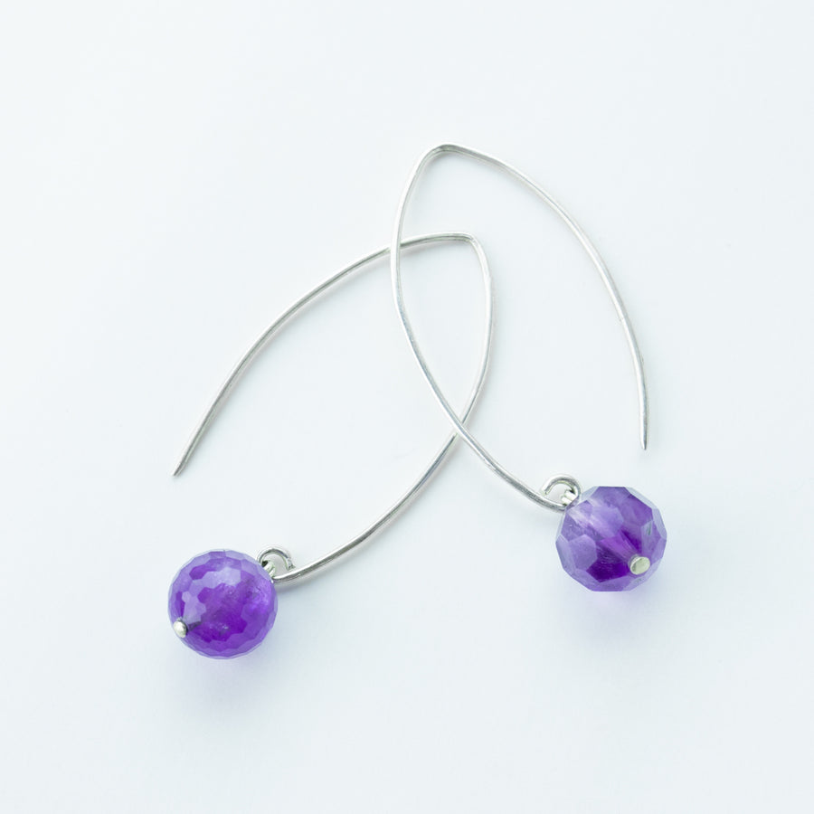 Radiant Amethyst Drop Earrings