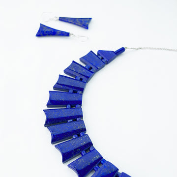 Midnight Sky Lapis Statement Necklace