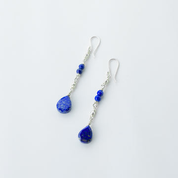 Midnight Stars Lapis Drop earrings