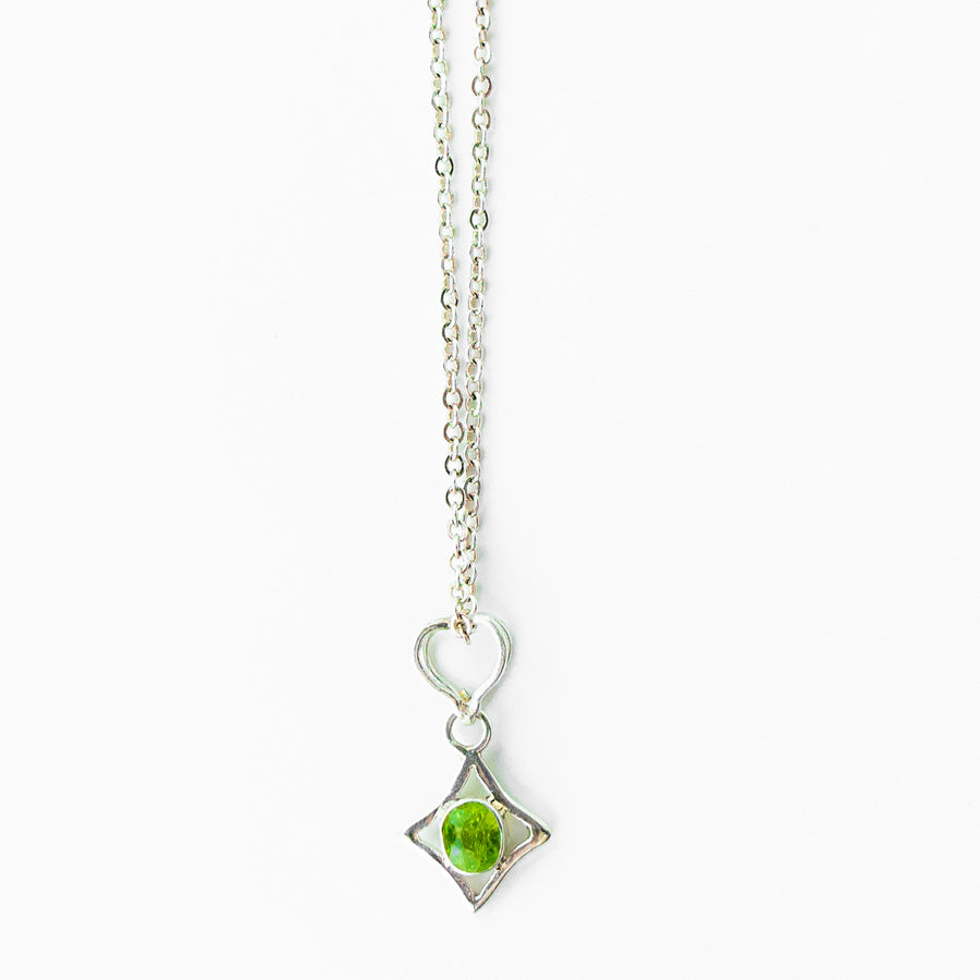 North Star Peridot Pendant