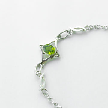 north star peridot healing gemstone bracelet