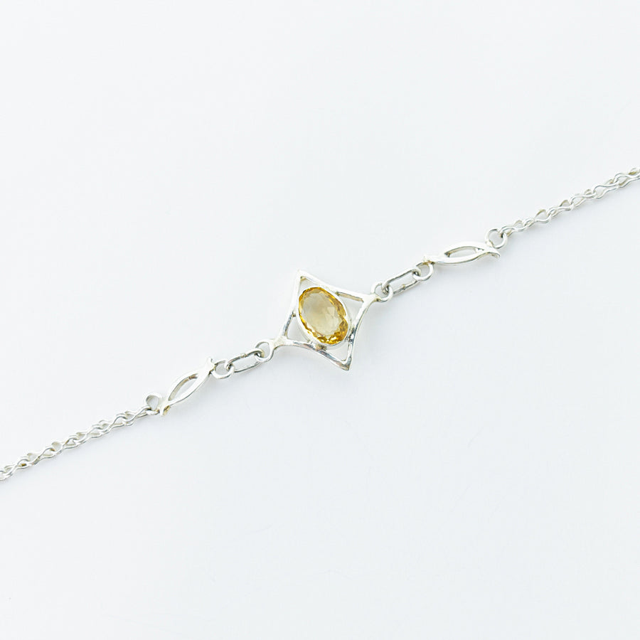 north star citrine healing gemstones bracelet