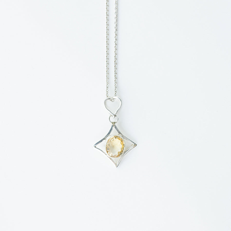 north star citrine healing gemstones pendant