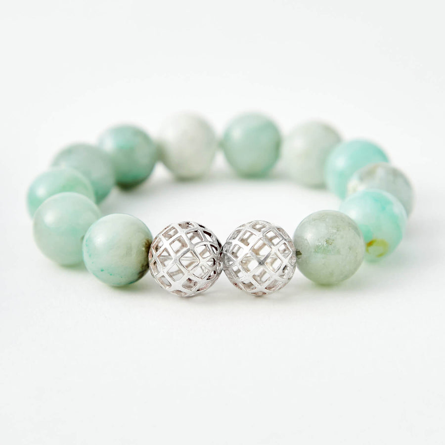 journey in faith chalcedony healing gemstones bracelet green