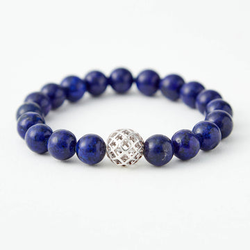 Guided by Wisdom Lapis Bracelet