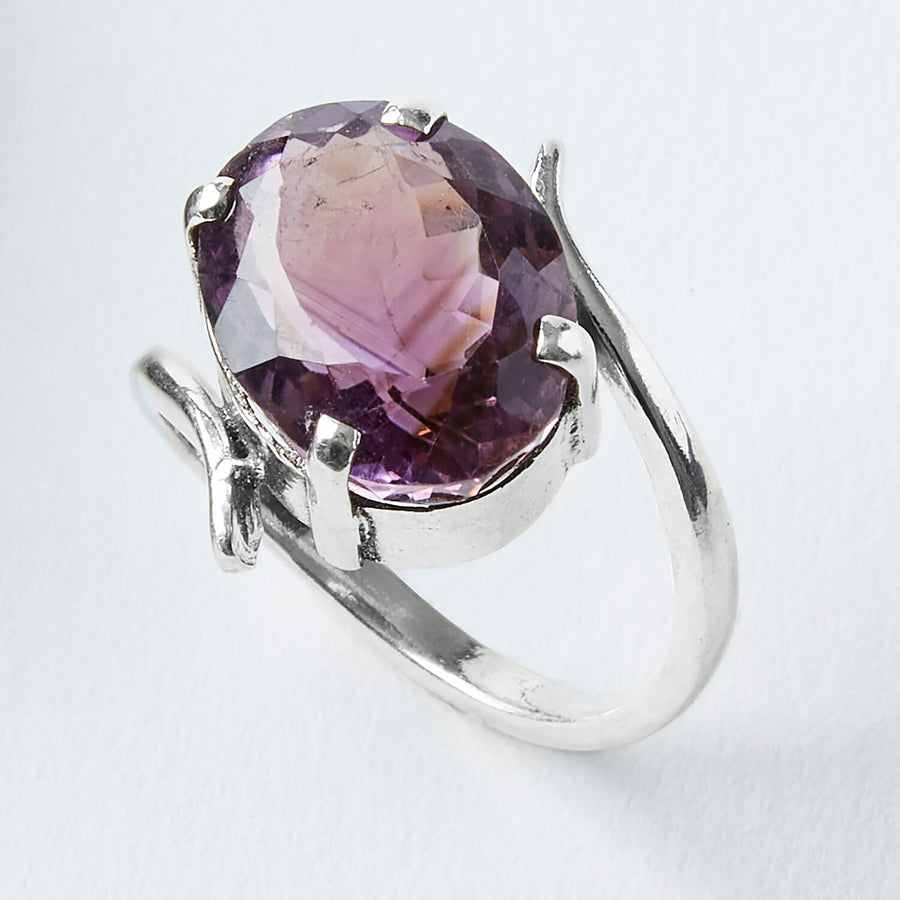 sacred awareness amethyst healing gemstone ring