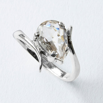 guiding light white topaz healing gemstone ring