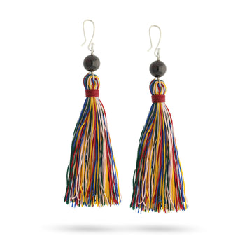 reclaiming self garnet healing gemstones tassel earrings