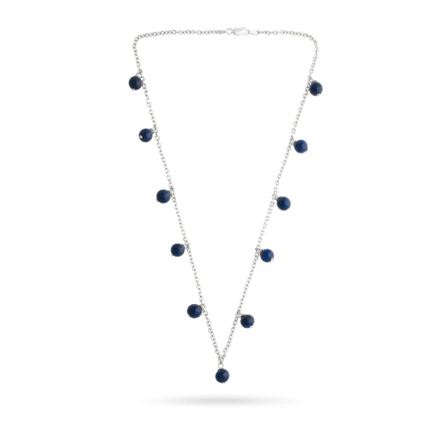 Guided by Wisdom Lapis Drop Necklace