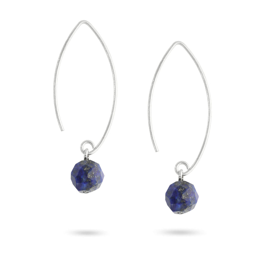 Finding Clarity Lapis Drop Earrings