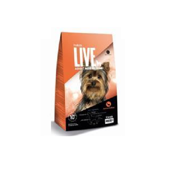 ProBiotic LIVE Adult Mini Breeds - Laks & Ris, 7,5 kg