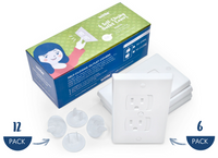 Protect your child from injuries caused by inserting objects into the outlets with our Wittle Universal Outlet Covers & Protectors Combo Pack!