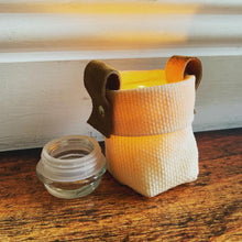 "Waxed Canvas Mini ""Kiki Pot"" Natural Planter"
