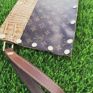 Authentic Upcycled Louis Vuitton Leather Clutch