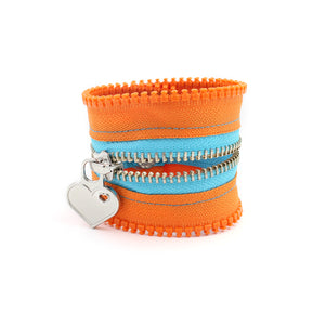 Orange you love Zip Bracelet - N.Kluger Designs bracelet