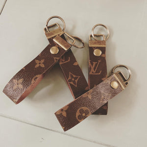 Repurposed Louis Vuitton Leather Key Chain 5