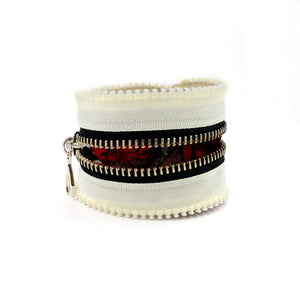 Gypsy Rose Cream Zip Bracelet - N.Kluger Designs bracelet