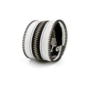 Inverted B+W Zip Bracelet - N.Kluger Designs bracelet