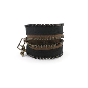 Burnt Brownie Zip Bracelet - N.Kluger Designs bracelet