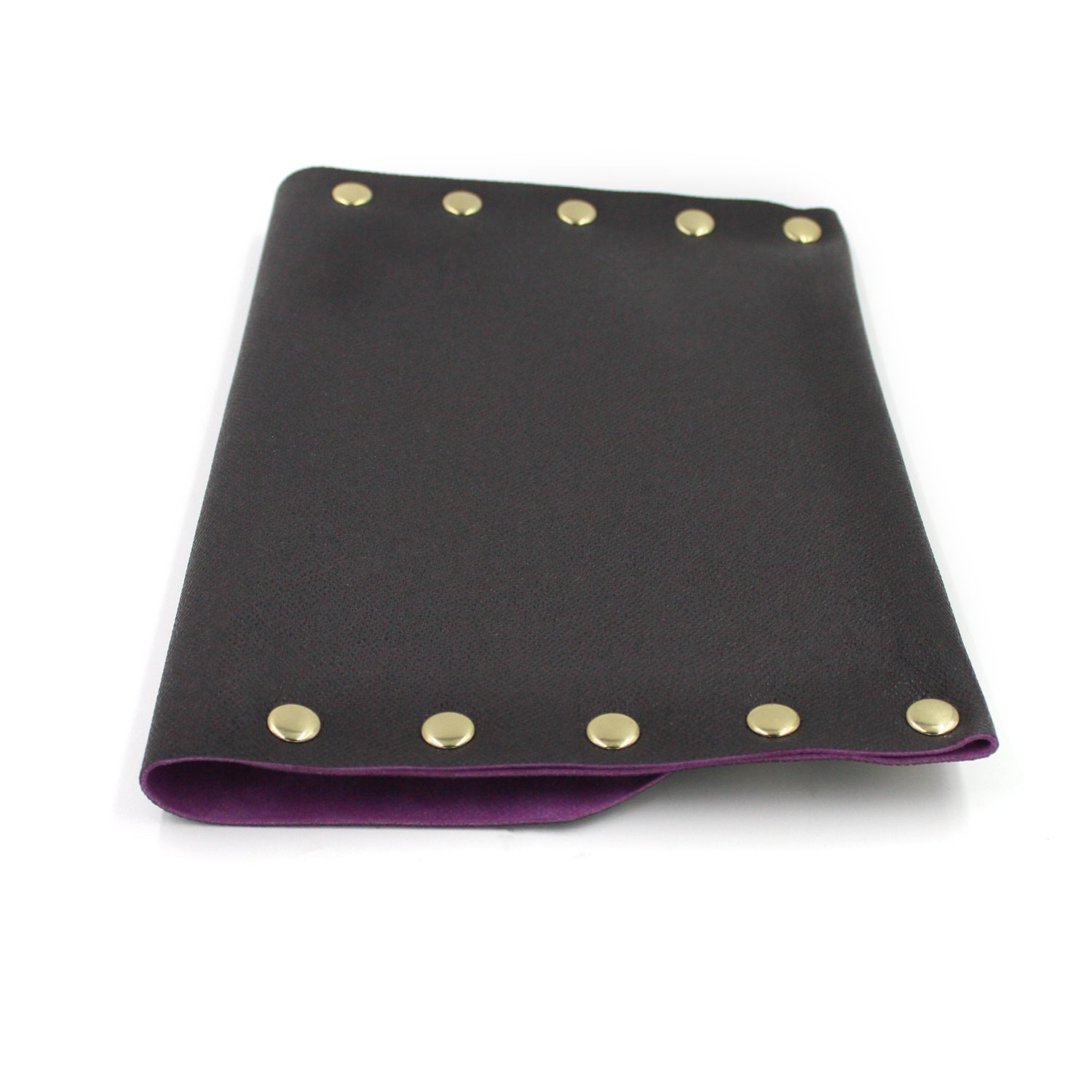 Eggplant and Pink Genuine Italian Leather Clutch 2