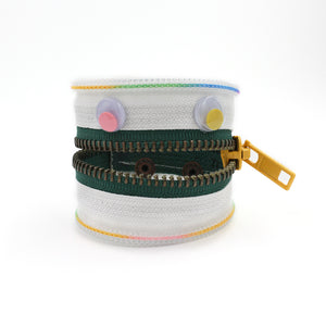 Wacky Rainbow the Monster Zip Bracelet - N.Kluger Designs bracelet
