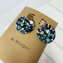 Tortoise Shell Circle Cutout Acrylic Drop Earrings