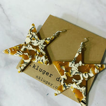 Extra Large Tortoise Shell Star Earrings