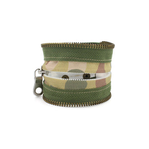 Camo Collection Green Zip Bracelet - N.Kluger Designs bracelet
