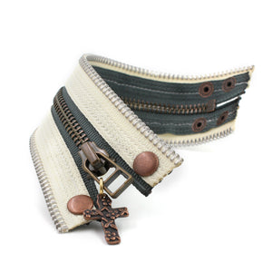 Cream of the Crop Zip Bracelet - N.Kluger Designs bracelet