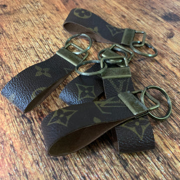 Upcycled Louis Vuitton Leather Key Chain