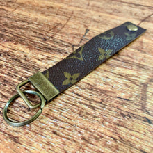 Upcycled Extra Long Louis Vuitton Leather Key Chain