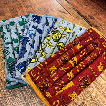 Handmade Cotton Hogwarts Collection Face Masks