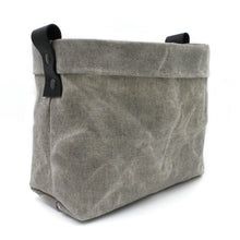 "Salt & Pepper Waxed Canvas ""Kiki Pot"" Basket"