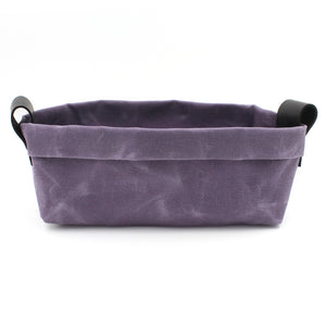 Waxed Canvas Candy Dish/Valet in Violet