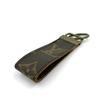 Upcycled Louis Vuitton Leather Key Chain V2
