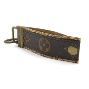 Upcycled Louis Vuitton Leather Key Chain V3