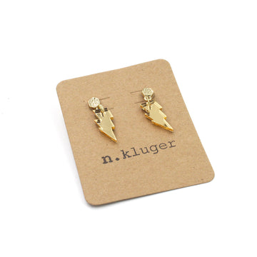 Mini Lightning Bolt Acrylic Drop Earrings