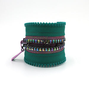 Disco Fever Metallic Zip Bracelet - N.Kluger Designs bracelet