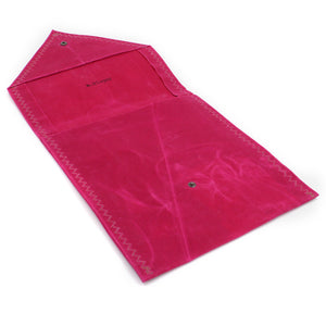 Waxed Canvas iPad Envelope Case/Clutch in Cerise Pink