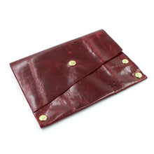 Red Leather Card Case / Mini Wallet