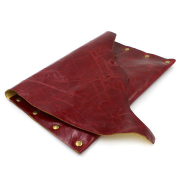 The Ultimate Red & Gold Leather Cocktail Party Clutch