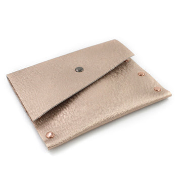 Rose Gold Leather Card Case / Mini Wallet