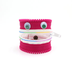 Rainbow Pinkster the Monster Zip Bracelet - N.Kluger Designs bracelet