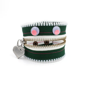 Gumdrop the Monster Zip Bracelet - N.Kluger Designs bracelet