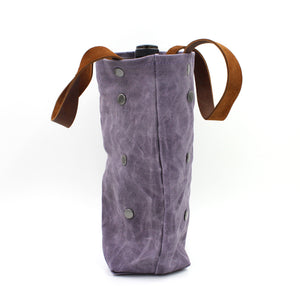 Waxed Canvas Violet Wine Tote