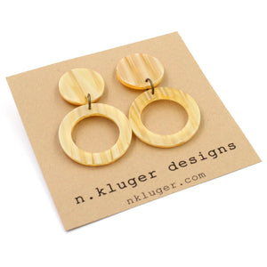 Double Creamsicle Open Circle Acrylic Drop Earrings