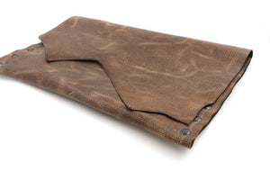 Distressed Genuine Brown Leather Clutch - N.Kluger Designs clutch