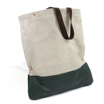 The Perfect Canvas & Leather Tote Bag Shopper