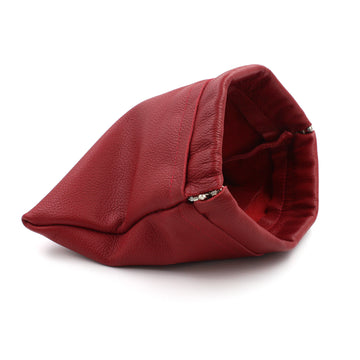 Woman in Red Genuine Leather Cosmetic Purse/Clutch